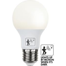LED-Lampe E27 Sensor Ø60 lm470/40w Frostet , hemmetshjarta.no