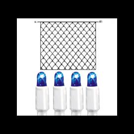 Utendørsdekorasjon System LED EL Lysnett Extra Blå 192 lys 300x300cm , hemmetshjarta.no