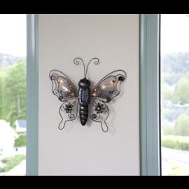 Solcelle dekorasjon Butterfly , hemmetshjarta.no