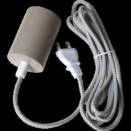 Lampeholder E27 Slim Beige 3,5m , hemmetshjarta.no