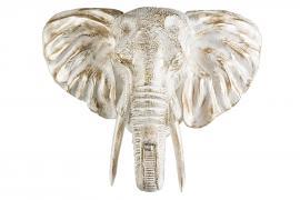 Elefanthode/Vegg 56 cm - vit/Gull , hemmetshjarta.no