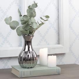 Vase Lyx 15 cm - sølv , hemmetshjarta.no