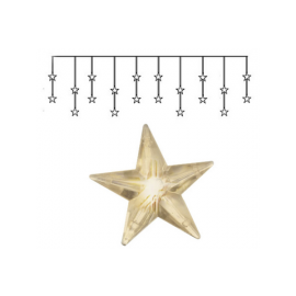 Dekorasjonslenke EL Lysgardin Star Varmhvit 20 Lys 180x40cm , hemmetshjarta.no