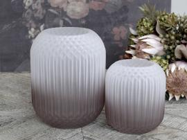 Uke 45 Vase med rutemønster matt H25 / Ø18 cm taupe , hemmetshjarta.no