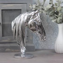 Hestehode 31x22,5x12,5 cm - sølv , hemmetshjarta.no