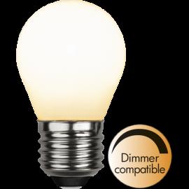 LED-Lampe E27 Ø45 Dim lm470/40w Frostet Ra90 , hemmetshjarta.no
