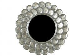 Speil / rund sølv 75cm , hemmetshjarta.no