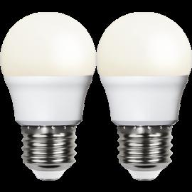 LED-Lampe E27 Ø45 lm250/25w Frostet Basic 2-pakning , hemmetshjarta.no