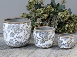 Melun Krukke med fransk mønster Keramikk H14 / Ø14 cm opal 1 st , hemmetshjarta.no