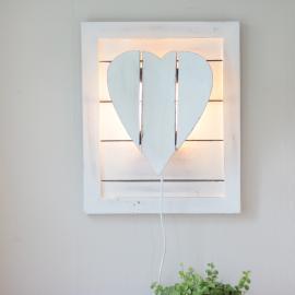Lampe til Vegg Hjerte - antikkhvit , hemmetshjarta.no