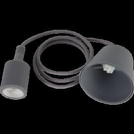 Lampeholder E27 Color Grå 1,2m med Takkopp , hemmetshjarta.no
