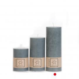 Kubbelys Økologisk Dark Grey 100% stearin 7x20 , hemmetshjarta.no