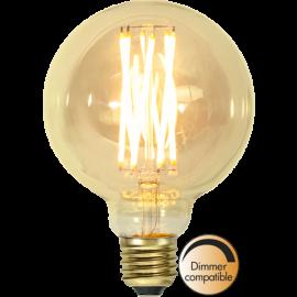 LED-Lampe E27 Vintage Gold G95 Dim , hemmetshjarta.no