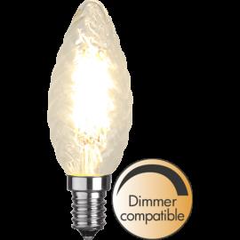 LED-Lampe E14 Twist Ø35 Dim lm420/37w Clear , hemmetshjarta.no