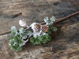 Uke 40 Fleur Kunstig sedergren med kongler H63 cm grønn , hemmetshjarta.no