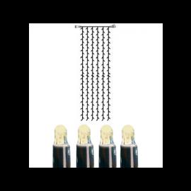Utendørsdekorasjon System LED EL Lysgardin Extra Varmhvit 204 lys 100x400cm , hemmetshjarta.no