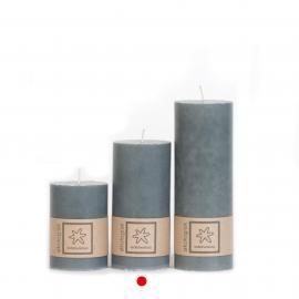 Kubbelys Økologisk Dark Grey 100% stearin 7x15 , hemmetshjarta.no