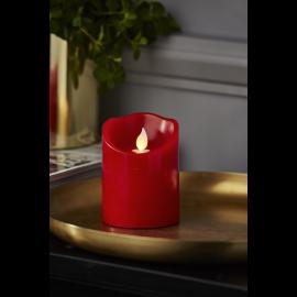 Batteridrevet Blokklys LED M-Twinkle Rød 7,5x10cm , hemmetshjarta.no