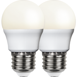 LED-Lampe E27 Ø45 lm470/40w Frostet Basic 2-pakning , hemmetshjarta.no
