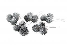 Lerkekongle / tråd sølv 3x3-pakke , hemmetshjarta.no