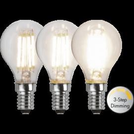 LED-Lampe E14 Ø45 Dim 3-step lm470/40w Clear , hemmetshjarta.no