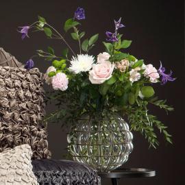 Uke 11 Vase/Lykt Vy med nett 27 cm , hemmetshjarta.no