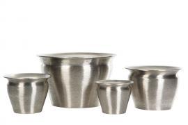 Krukke 4-pack - børstet sølv , hemmetshjarta.no