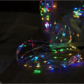 Lyslenke Dew Drop EL Multi 125 lys 140cm 10 strenger , hemmetshjarta.no