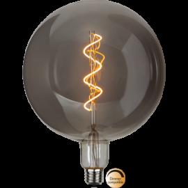 LED-Lampe E27 Industrial Vintage Smoke G200 Dim , hemmetshjarta.no