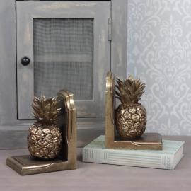 Bokstøtte / ananas gull Poly 12x17cm 1-par , hemmetshjarta.no