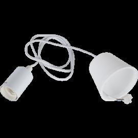 Lampeholder E27 Stil Hvit 1,5m med Takkopp , hemmetshjarta.no
