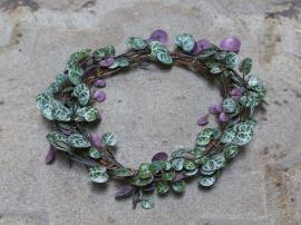 Fleur krans hjerter på tråd Ø22 cm grønn , hemmetshjarta.no
