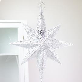 Adventstjerne belysning - Antikk hvit , hemmetshjarta.no