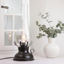 Lampe El 42 cm - Antikbrun , hemmetshjarta.no