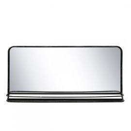 Gammel speil med hylle H46.5 / L97 / B14 cm antikk svart , hemmetshjarta.no