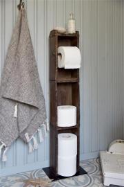 Toalettpapirholder gulv i mursteinform H95 / L15 / W10 cm naturlig , hemmetshjarta.no