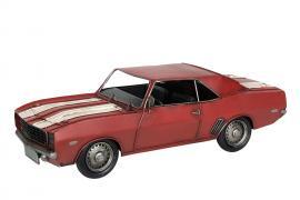 Dekorasjon Bil Camaro Red Metal 34x14x11cm , hemmetshjarta.no