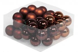 Glasskule.Bas Choklad Mix 4cm 36stk , hemmetshjarta.no
