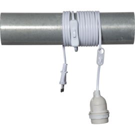 Lampeholder E27 Basic Hvit 3,5m , hemmetshjarta.no