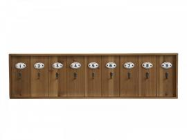Uke 35 Tastatur med 9 kroker H21 / L80 / W3 cm naturlig , hemmetshjarta.no
