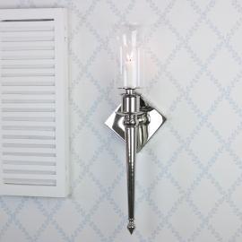 Vegglykt Luksus 48 cm - sølv , hemmetshjarta.no