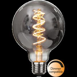 LED-Lampe E27 Decoled Spiral Smoke G95 Dim , hemmetshjarta.no