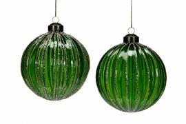 Glasskule Ava M.Green 10cm 2-pack , hemmetshjarta.no