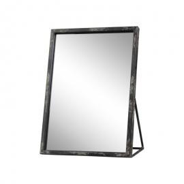Speil industri H29 / L21.5 / B12,5 cm antikk svart , hemmetshjarta.no