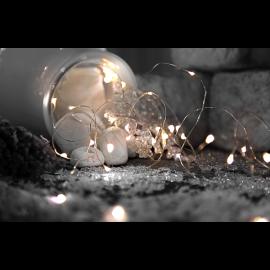 Lyslenke Dew Drop Batteridrevet Kaldhvit 46 lys 100 cm 5 strenger , hemmetshjarta.no