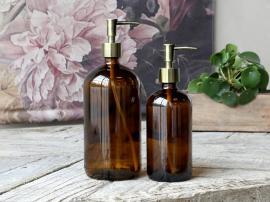 Flaske med 2 pumper 480 ml. H22 / Ø7,5 cm semsket skinn 1 stk , hemmetshjarta.no