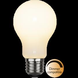 LED-Lampe E27 Ø60 Dim lm470/40w Frostet Ra90 , hemmetshjarta.no