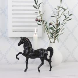 Lysestake Hest Brun / Sort Poly 19cm , hemmetshjarta.no