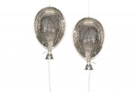Ballong glass Old Silver 11x20cm 2-pak , hemmetshjarta.no