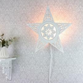 Lampe til Vegg Stjerne skåret detaljer , hemmetshjarta.no